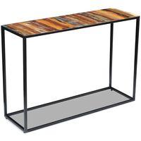 vidaXL Konzolový stolek masivní recyklované dřevo 110 x 35 x 76 cm