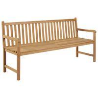 vidaXL Zahradní lavice 175 cm masivní teakové dřevo