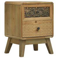 vidaXL Noční stolek hnědý 37 x 30 x 51 cm dřevo