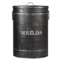 LABEL51 Box na prádlo 40 x 40 x 58 cm L černý s patinou