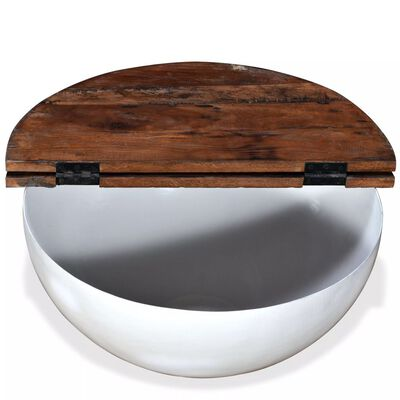 vidaXL Konferenční stolky 2ks masivní recyklované dřevo bílé miskovité