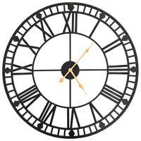 vidaXL Vintage nástěnné hodiny se strojkem Quartz kovové 60 cm XXL