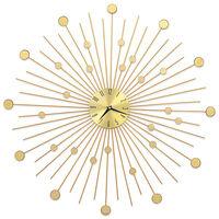 vidaXL Nástěnné hodiny kovové 70 cm zlaté