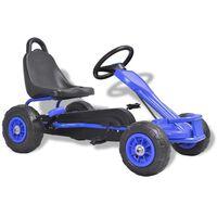vidaXL Šlapací motokára s pneumatikami modrá