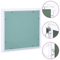vidaXL Access Panel with Aluminium Frame and Plasterboard 400x400 mm