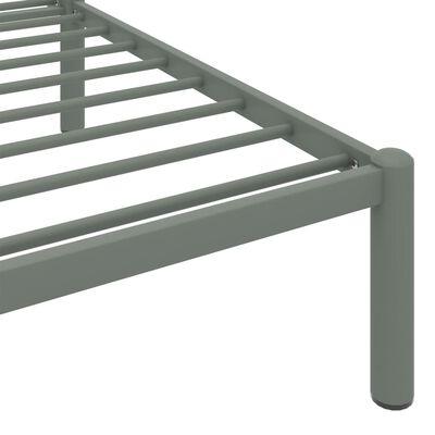 vidaXL Rám postele šedý kov 200 x 200 cm