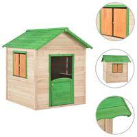 vidaXL Dětský domeček jedlové dřevo zelený