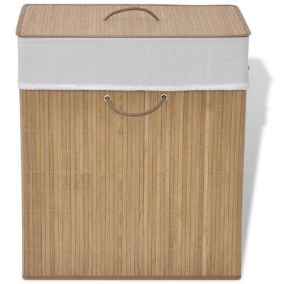 vidaXL Bambusový koš na prádlo čtverhranný přírodní odstín