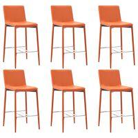 vidaXL Barové stoličky 6 ks oranžové umělá kůže