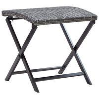 vidaXL Skládací stolička polyratan šedá