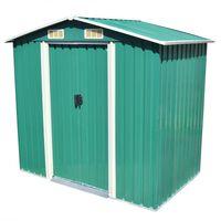 vidaXL Zahradní domek na nářadí zelený kovový 204x132x186 cm
