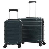 vidaXL Sada skořepinových kufrů na kolečkách 2 ks zelená ABS