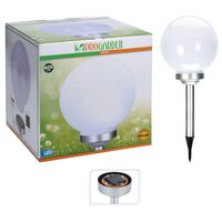 ProGarden LED solární světlo Ball 25 cm bílé