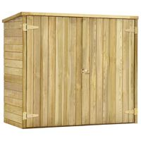 vidaXL Zahradní kůlna na nářadí 135x60x123 cm impregnovaná borovice