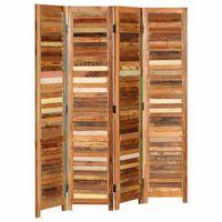 vidaXL Paraván masivní recyklované dřevo 170 cm
