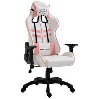 vidaXL Herní židle růžová umělá kůže