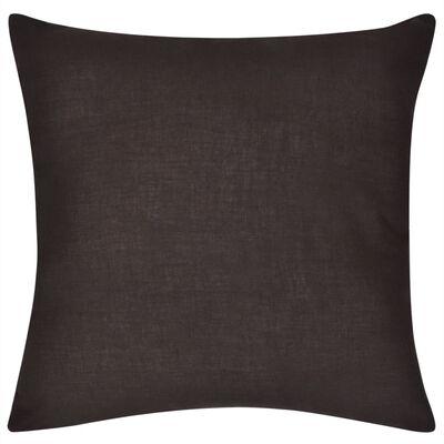 4 hnědé povlaky na polštářky bavlna 50 x 50 cm