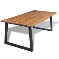 vidaXL Jídelní stůl z masivního akáciového dřeva 200 x 90 cm