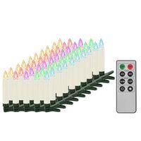 vidaXL Vánoční bezdrátové LED svíčky s dálkovým ovládáním 50 ks RGB