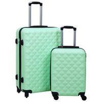 vidaXL Sada skořepinových kufrů na kolečkách 2 ks mátová ABS
