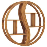 vidaXL Nástěnná police Yin Yang 100x20x100 cm masivní teakové dřevo