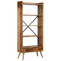 vidaXL Knihovna z masivního sheeshamového dřeva 75 x 30 x 170 cm