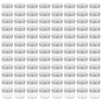 vidaXL Zavařovací sklenice se stříbrnými víčky 96 ks 110 ml