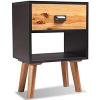 vidaXL Noční stolek z masivního akáciového dřeva 40x30x58 cm
