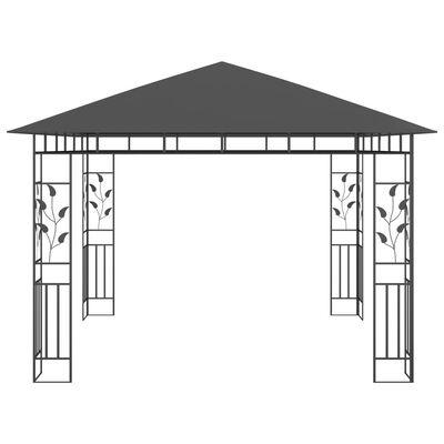 vidaXL Altán s moskytiérou 3 x 3 x 2,73 m antracitový 180 g/m²