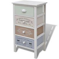 vidaXL Úložná skříňka ve francouzském stylu se 4 zásuvkami dřevěná