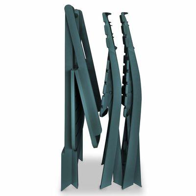 vidaXL 3dílný skládací bistro set plastový zelený