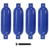 vidaXL Lodní fender 4 ks modrý 51 x 14 cm PVC