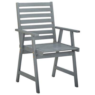 vidaXL Zahradní jídelní židle s poduškami 3 ks masivní akáciové dřevo