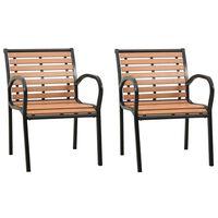 vidaXL Zahradní židle 2 ks dřevo
