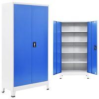 vidaXL Kancelářská skříň 90 x 40 x 180 cm šedo-modrá