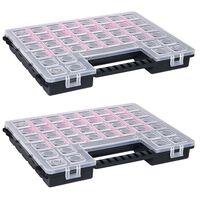 vidaXL Boxy na součástky 2 ks nastavitelné přihrádky 385 x 283 x 50 mm