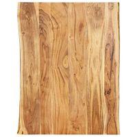 vidaXL Stolní deska masivní akáciové dřevo 80 x (50–60) x 2,5 cm