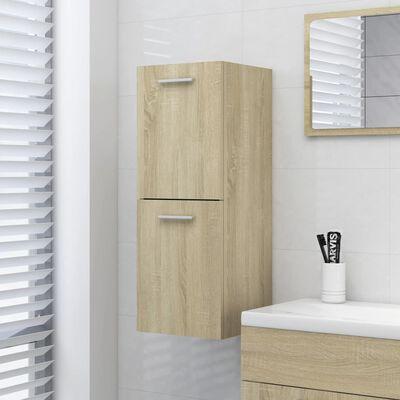 vidaXL Koupelnová skříňka dub sonoma 30 x 30 x 80 cm dřevotříska
