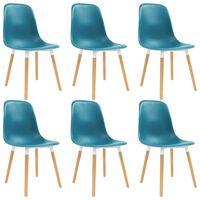 vidaXL Jídelní židle 6 ks tyrkysové plast