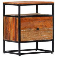 vidaXL Noční stolek 40 x 30 x 50 cm masivní recyklované dřevo a ocel