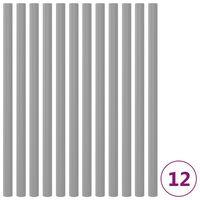 vidaXL Pěnová ochrana na trampolínové tyče 12 ks 92,5 cm šedá