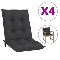 vidaXL Podušky na zahradní židle 4 ks antracitové 100 x 50 x 7 cm