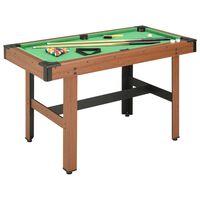 vidaXL Kulečníkový stůl 122 x 61 x 76 cm hnědý