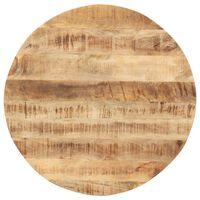vidaXL Stolní deska masivní mangovníkové dřevo kulatá 15–16 mm 40 cm
