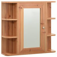 323603 vidaXL Bathroom Mirror Cabinet Oak 66x17x63 cm MDF