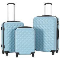 vidaXL Sada skořepinových kufrů na kolečkách 3 ks modrá ABS