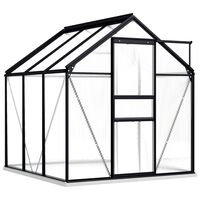 vidaXL Skleník antracitový hliníkový 2,47 m²