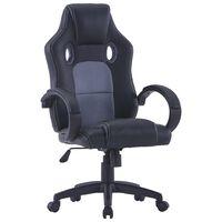 vidaXL Herní židle šedá umělá kůže