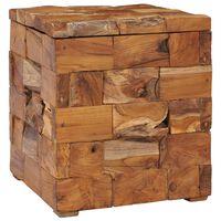 vidaXL Úložná stolička masivní teakové dřevo