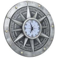 321476 vidaXL Wall Clock Silver 79 cm MDF and Metal